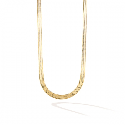 The 5th Avenue Snake Chain Choker-Yellow Gold