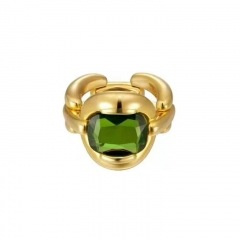 Olive Green Vintage Emerald Rings